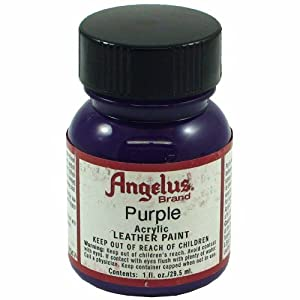 Springfield Leather Company's Purple Acrylic Leather Paint from Angelus