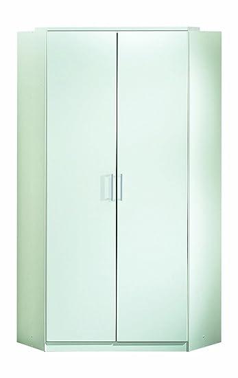 Wimex 147511 Eck-Kleiderschrank, 95 x 198 x 95 cm, 2-turig, Front und Korpus alpinweiß