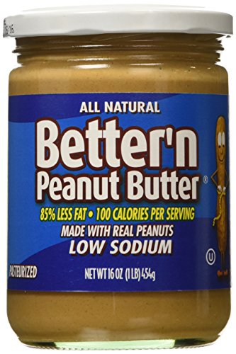 Better N Peanut Butter Low Sodium, Low Fat Peanut Butter Spread, 16 Ounce Jar (Peanut Butter Alternative compare prices)