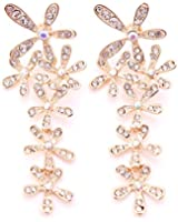 Rolicia or ou argent plaqué autrichiens cristaux de zircon Boucles d'oreilles avec Swarovski Elements pour les dames comme un don spécial
