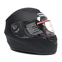 Motorcycle Full Face Helmet DOT +2 Visors Comes with Clear Shield and Free Smoked Shield - Matte Black (Large) - 22 by MMG