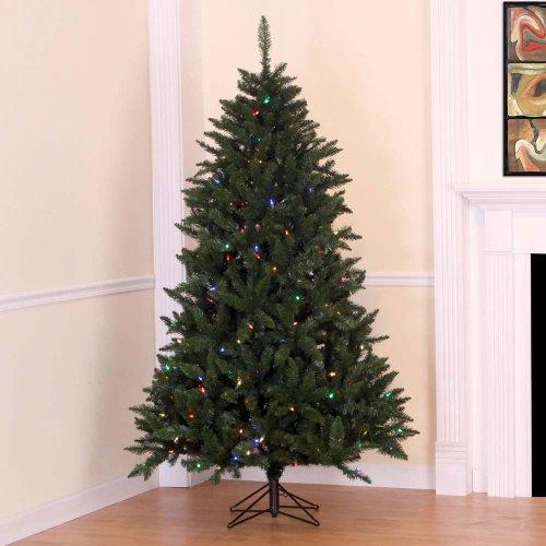 "7' x 50"" Highland Pine Christmas Tree, LED, Multi-Color"