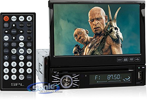 "Spl Sid-8902 In-Dash 7"" Dvd/Mp3/Usb Lcd Touchscreen Flip-Up Car Stereo Receiver W/ Sd Reader & Audio/Video Outputs"