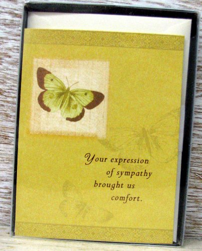 Hallmark Stationery TYS9145 Gold Butterfly Thank