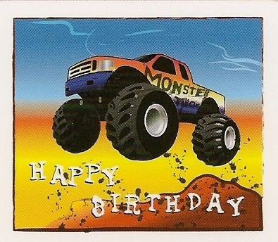 $$ For Sale Birthday Monster Truck ~ Edible Image Cake Topper