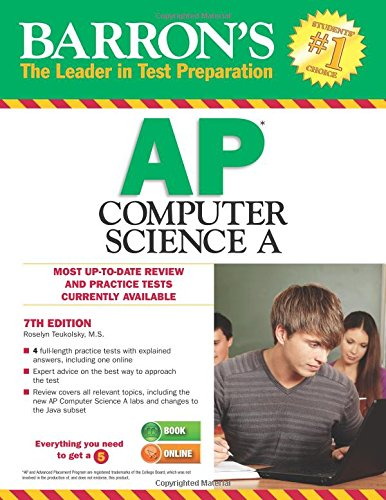 Download Barron's AP Computer Science A, 7th Edition