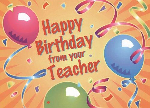 birthday cards for teachers