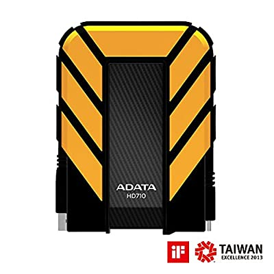 Adata Dash Drive Durable HD710 500 GB External Hard Drive Portable (Yellow)