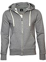 JACK & JONES Herren Regular Fit Sweatshirt Storm Sweat Zip Hood Color-Noos, Einfarbig