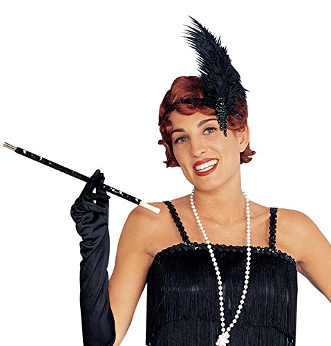 Costume Culture Women's Sequin Cigarette Holder, Black, One Size