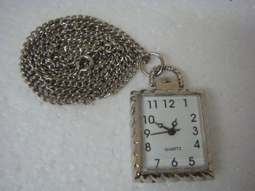 Rectangular Shape Quartz Watch Pendent - 20097