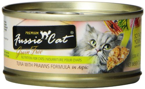 Fussie Cat Premium - Tuna With Prawns