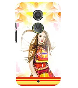 PRINTSWAG BEAUTIFUL GIRL Designer Back Cover Case for MOTOROLA MOTO X2