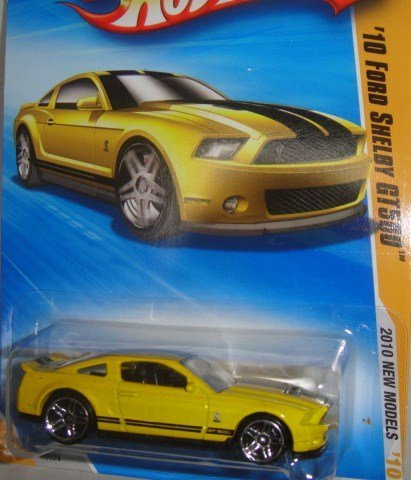 HOT WHEELS YELLOW 2010 NEW MODEL SERIES '10 FORD SHELBY GT-500 DIE-CAST - 1