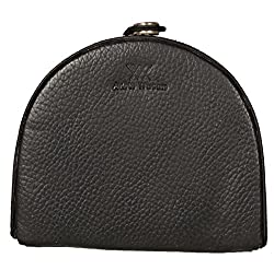 Aditi Wasan Black Genuine Leather Coin Holder