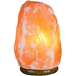 Cristaux de guérison Inde®: lampe de sel de l'Himalaya Rock Naturel sur base en bois.