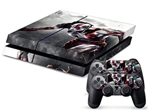 PS4 Designer Skin for Sony Playstation 4 Console System Plus Two(2) Decals For: PS4 Dualshock Controller - God of War