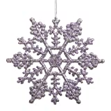 Club Pack of 24 Purple Lavender Glitter Snowflake Christmas Ornaments 4""