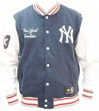 Majestic Burnside Fleece Letterman New York Yankees College Jacke Jacket by Majestic