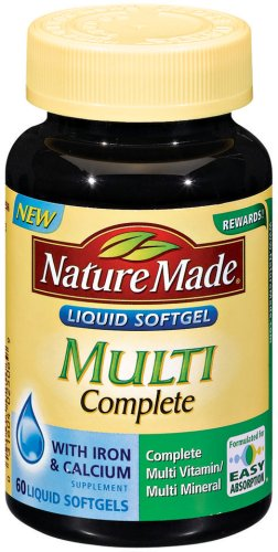Nature Made Multi Complete, 60 Softgels (Pack Of 3)