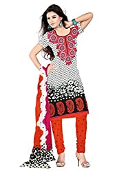 Ethnic Fashion Printed Cotton Dress Material