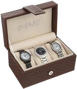 August Steiner Women's AS8063BK Dazzling Diamond Swiss Quartz 3 Watch Set