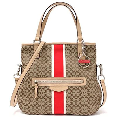 Best Cheap Deal for COACH Signature Stripe Foldover Crossbody from COACH - Free 2 Day Shipping Available