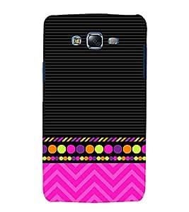 Colorful Zig Zag Design Cute Fashion 3D Hard Polycarbonate Designer Back Case Cover for Samsung Galaxy J5 (2015 Old Model) :: Samsung Galaxy J5 Duos :: Samsung Galaxy J5 J500F :: Samsung Galaxy J5 J500FN J500G J500Y J500M