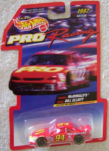 1997 Edition Team Hot Wheels Pro Racing Bill Elliott #94 McDonald's Die Cast Car