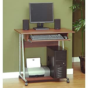 Compact Computer Cart Cherry