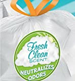 Tall Kitchen Trash Bags 13 Gallon 180 Count Kitchen Tall texture leak-protection seals Fresh Clean Fresh scent Scented Trash Can Liner