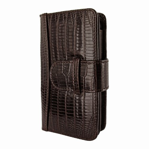 Great Sale Apple iPhone 5 / 5S Piel Frama Brown Lizard Leather Wallet