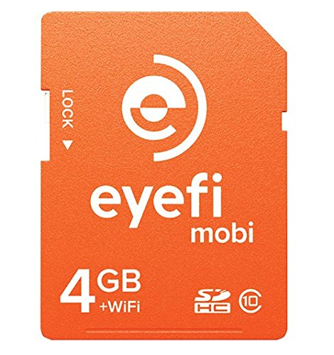 Sale!! Eyefi Mobi 4GB SDHC Class 10 Wi-Fi Memory Card with 1-year Eyefi Cloud Service (MOBI-4-FF1Y)