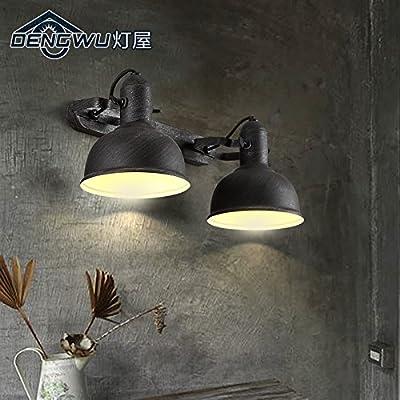 SUBIDENGCreative vintage industrial Wall lamp iron loft living room bedroom bed balcony aisle Wall lamp 180/610/800mm*280mm
