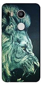 Snoogg Lion Fury Designer Protective Back Case Cover For Lg Google Nexus 5X