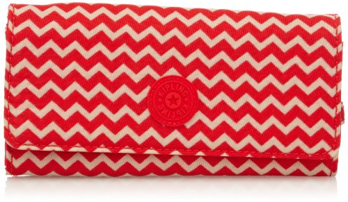 Kipling Womens Brownie Wallet K13865A90 Chevron Red PR