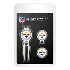 Pittsburgh Steelers Cool Tool Cap Clip and Ball Marker Clamshell Pack