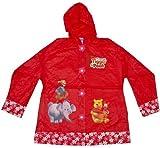 Kids Disney Winnie The Pooh Raincoat (Size 3 (7-8), Red)