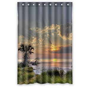 Theme Of Sunrise Nature Shower Curtain 48 By 72 Home Kitchen