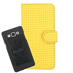 DooDa PU Leather Wallet Flip Case Cover With Card & ID Slots For Lenovo S850 - Back Cover Not Included Peel And Paste