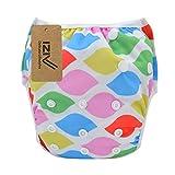 iZiv(TM) Recién Nacido Orgánico Infantil Impermeable/Ajustable/Reutilizable/Lavable Pañal de Tela de Bolsillo aptos Bebés 0.5-2 años(Vistoso)