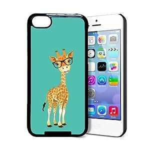 Hipster Cartoon Giraffe iPhone 5c Case - Fits iPhone 5c
