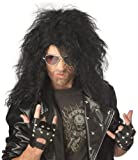 Heavy Metal Rocker Black Adult Wig ヘビーメタルロッカーブラック大人ウィッグ サイズ:One-Size