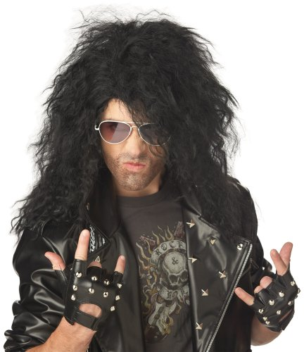 California Costumes Men's Heavy Metal Rocker Wig,Black,One