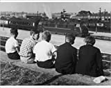 Photographic Print Of Young Trainspotters
