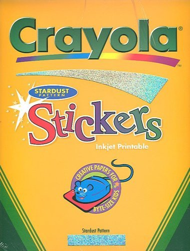 Crayola Stardust Pattern Stickers, Inkjet Printable (Creative Papers for Byte-Size Kids, 5 Sheets - New in Shrink Wrap)