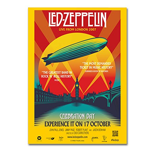 "Poster Alta Qualità -""Led Zeppelin Celebration Day"" - su carta lucida fotografica - Formato, 30cmx40cm"