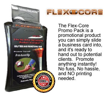 Flexcore Golf Tee Promotional Case - Promote Yourself Or Your Business Instantly
