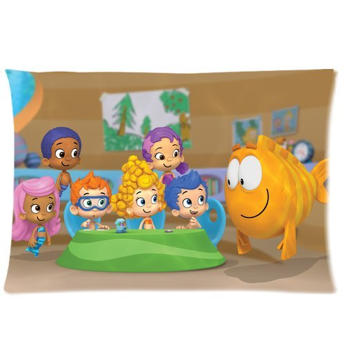 Wholesale Soft Cotton Pillowcase Covers Decorative Cushion Covers 2 Sides 20 X 30-Hot Cartoon Bubble Guppies Cute Molly Gil Bubble Puppy-1 front-994852