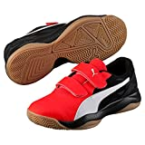 Puma Unisex-Kinder Veloz Indoor Iii V Jr Hallenschuhe, Rot (Red Blast-White-Black 01), 34 EU